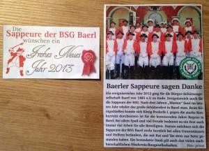 stadtpanorama vom 2. Januar 2013 - Baerler Sappeure sagen Danke