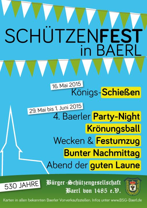 Plakat Schützenfest 2015