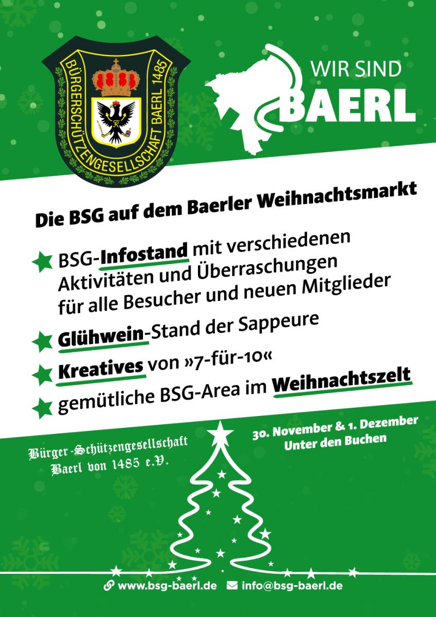 BSG auf dem Baerler Weihnachtsmarkt 2019